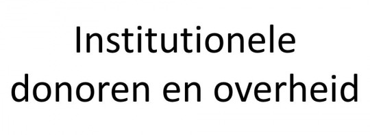 Institutionele donoren en overheden